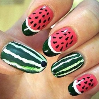 Best Watermelon Nail Art Designs | Styles At Life