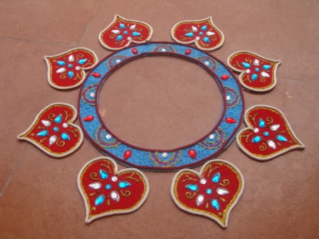 artificial rangoli designs