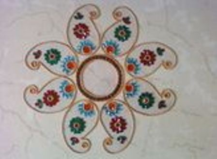 Beautiful Floating Rangoli Designs