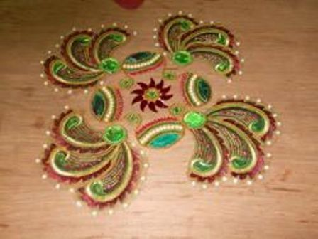 Beautiful Floating Rangolis
