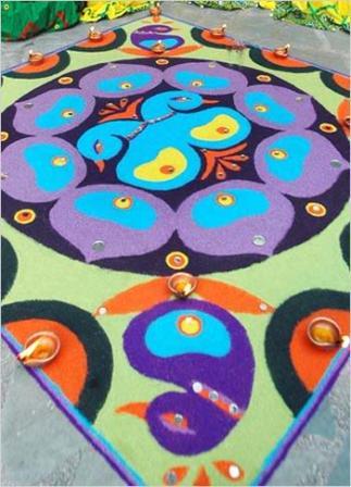 Peacock Marathi Rangoli Design
