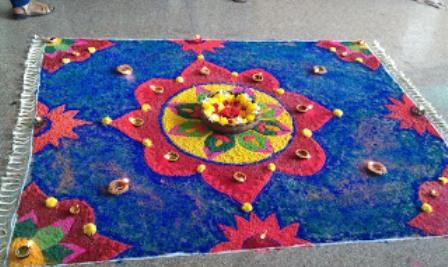 Carpet Holi Rangoli Designs