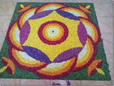 Colorful Circle Rangoli Design
