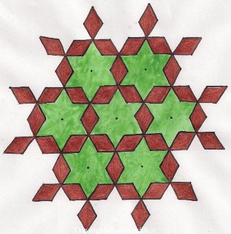 Diamond 15 Dot Rangoli Design