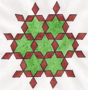 Diamond 15 Dot Rangoli Design
