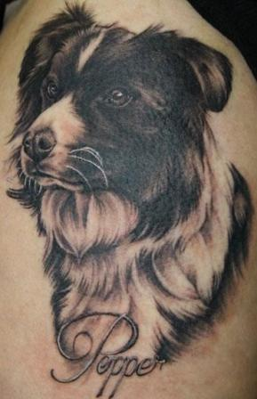dog animal tattoo