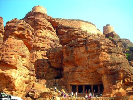Entrance of Badami Caves