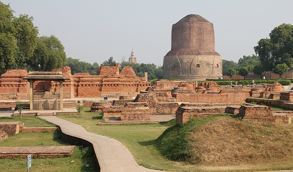 Famous Buddhist Temples in India-Dhamekha Stupa