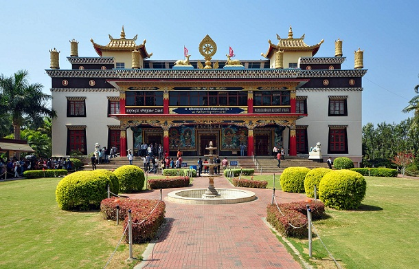Famous Buddhist Temples in India-Namdroling Nyingmapa Tibetian Monestary