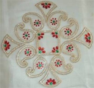 Traditional Floating Rangolis