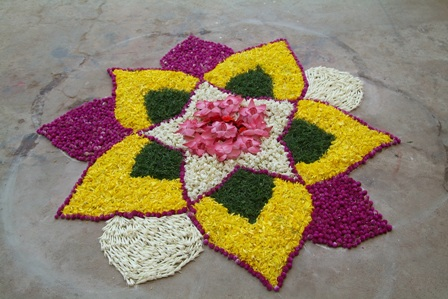 Floral Marathi Rangoli Design
