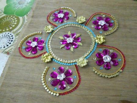 Floral Floating Rangolis