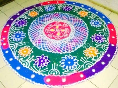 Floral Galicha Rangoli Design