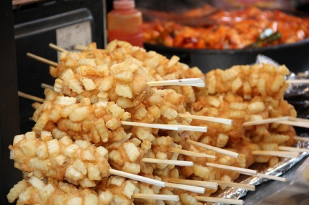 korean street cheese corn dog