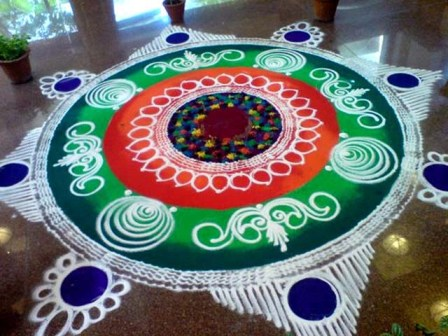 Galicha Rangoli for a Large Space