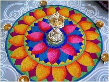 Galicha Rangoli for Diya