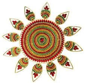 floating rangoli