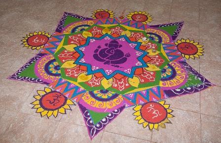 God Rangoli Designs For Festivals