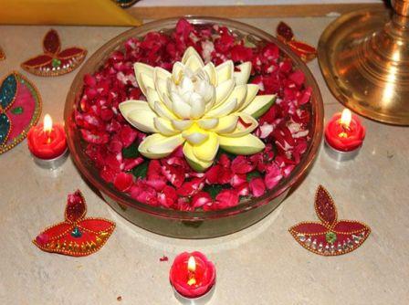 Lotus Rangoli In Water