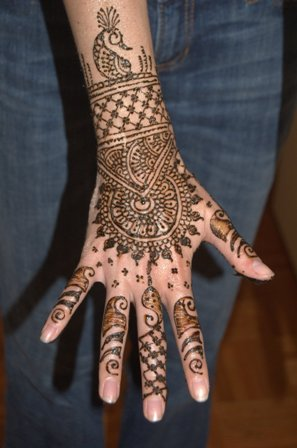 Peacock Hand Mehndi Design