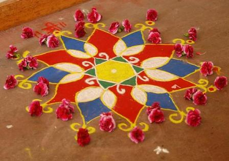 Mesmerizing Handmade Rangoli Design
