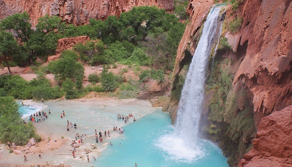 Natural Waterfalls-Havasu Falls