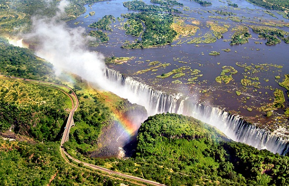 Natural Waterfalls-Victoria Falls