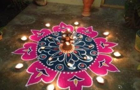 Diya Sanskar Bharti Rangoli Designs for Diwali