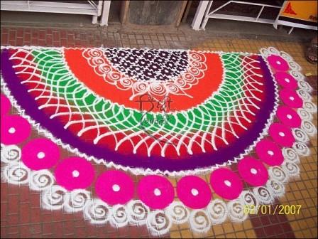 Semi-Circle Shaped Galicha Rangoli