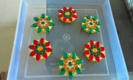 Small Flower Floating Rangolis