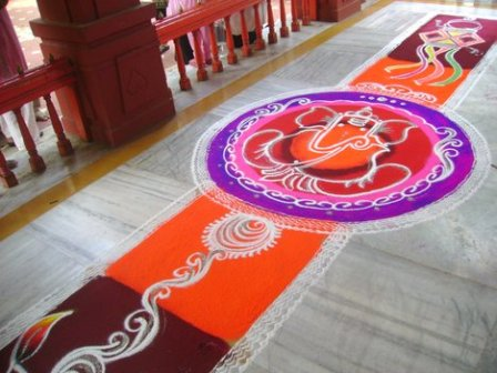 Traditional Galicha Rangoli Design