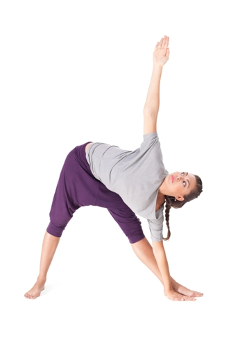 The Triangle Pose - Trikonasana Yoga for Pregnancy