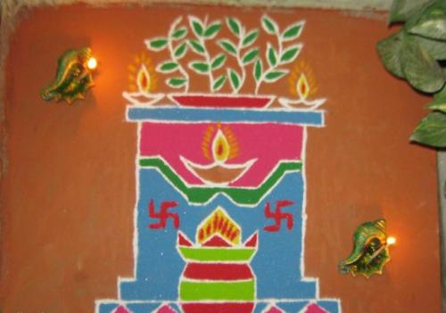 9 Best Tulsi Rangoli Designs | Styles At Life