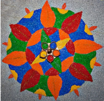 round rangoli designs