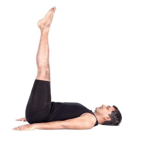 The Raised-Leg Pose - Uttana Padasana Yoga Posture