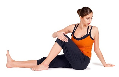 Yoga Poses For Glowing Skin-Twisted Seated Pose