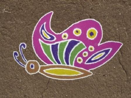 butterfly rangoli