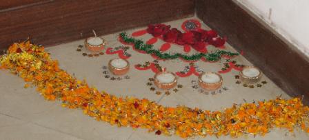 Corner Design for Diwali