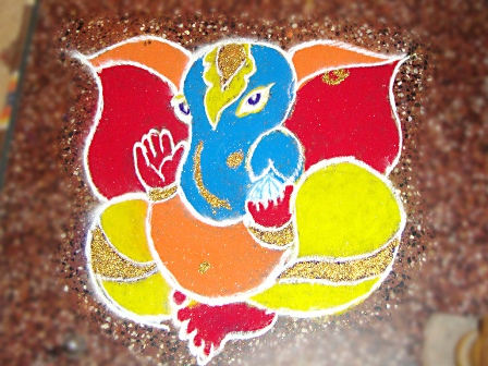 Beautiful Ganesh Ji Rangoli Designs Images for free download