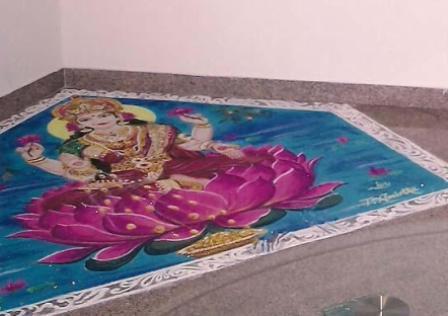 Beautiful Lakshmi Rangoli