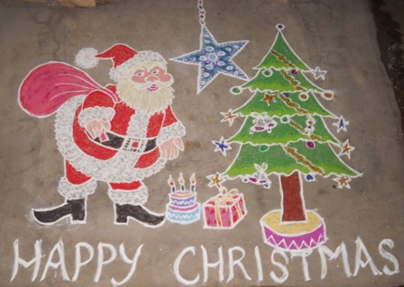 448 x 319 jpeg 54kB, Best Christmas Rangoli Designs With Pictures ...