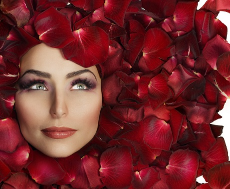 rose petals - face