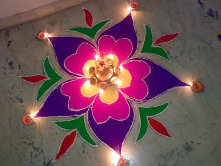 Small Diya Rangoli Designs