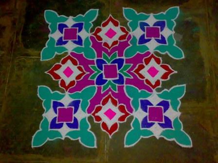 tulsi rangoli designs3
