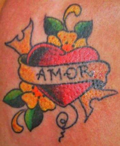 Amor Love Tattoo Designs