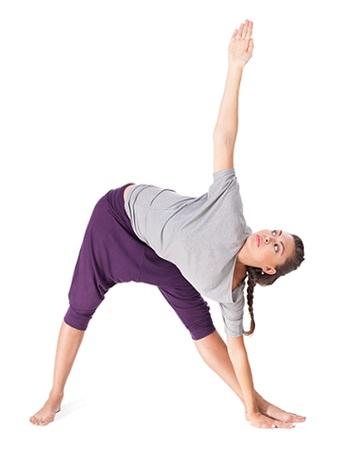 Anusara Yoga Asanas-Trikonasana