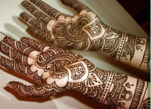 Elaborate black mehndi designs