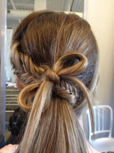 The Fishtail Braid With a Bow Look