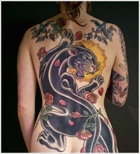 15 best panther tattoo designs with meanings styles at life. Black Bedroom Furniture Sets. Home Design Ideas
