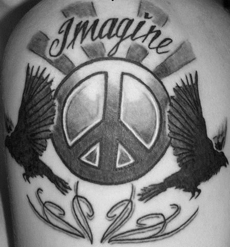 Imagine Peace Tattoo Designs